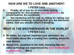 how are we to love one another