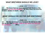 what brethren should we love