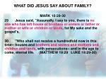 what did jesus say about family