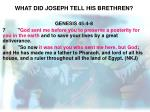 what did joseph tell his brethren