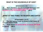 what is the household of god