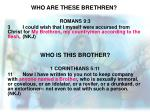who are these brethren5
