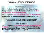 who calls them brethren