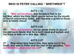 who is peter calling brethren