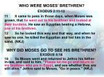 who were moses brethren