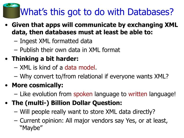 What's this got to do with Databases?