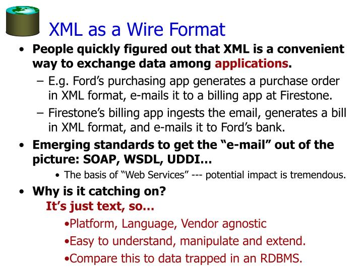 XML as a Wire Format