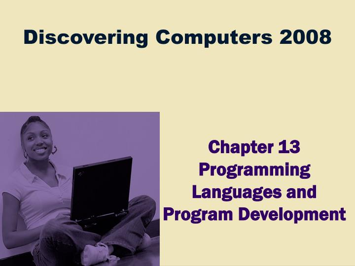 chapter 13 programming languages and program development n.