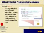 object oriented programming languages13