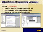 object oriented programming languages19