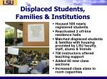 displaced students families institutions