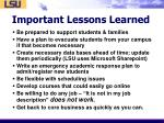 important lessons learned4