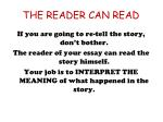 the reader can read