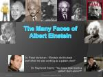 the many faces of albert einstein