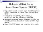 behavioral risk factor surveillance system brfss
