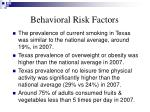 behavioral risk factors1