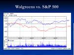 walgreens vs s p 500
