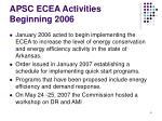 apsc ecea activities beginning 2006