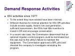 demand response activities