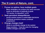 the 9 laws of nature cont1