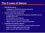 the 9 laws of nature