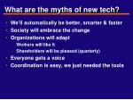 what are the myths of new tech