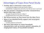 advantages of cape area panel study