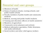 potential end user groups