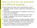 what to do if the site presented in a different language