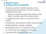 a different future 3 building will and capability