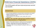 child care financial assistance ccfa