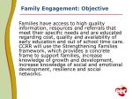 family engagement objective
