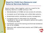 need for child care resource and referral services reform