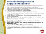 provider development and engagement activities2