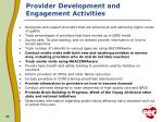 provider development and engagement activities3