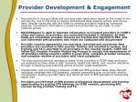provider development engagement