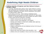 redefining high needs children