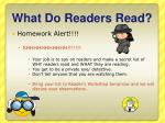 what do readers read