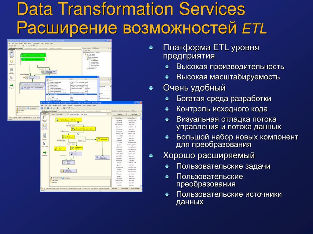 Data Transformation Services