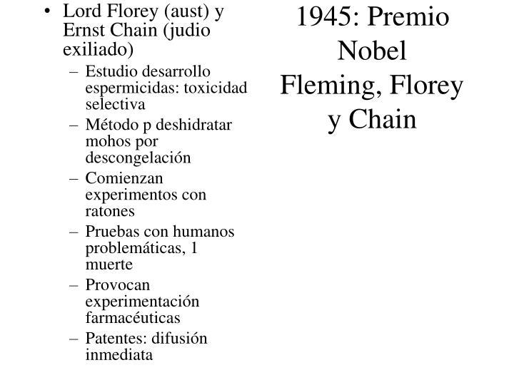 1945: Premio Nobel