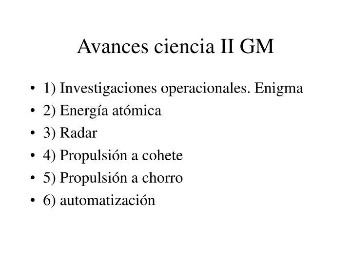 Avances ciencia ii gm