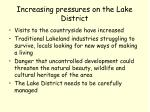 increasing pressures on the lake district