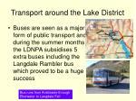 transport around the lake district