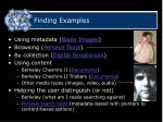 finding examples