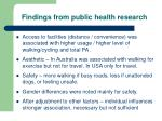 findings from public health research