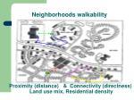 neighborhoods walkability
