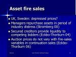 asset fire sales