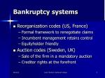 bankruptcy systems