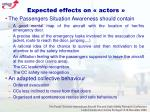 expected effects on actors