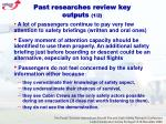 past researches review key outputs 1 2